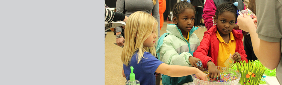 Students at a Family STEM Festival