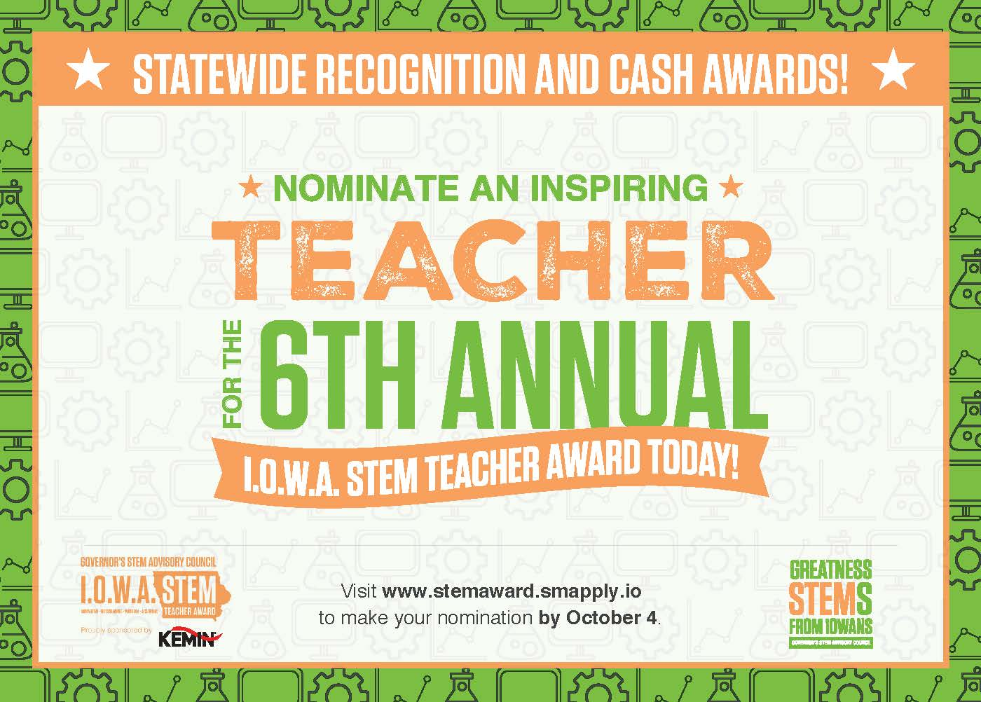 2020 I.O.W.A. STEM Teacher Award