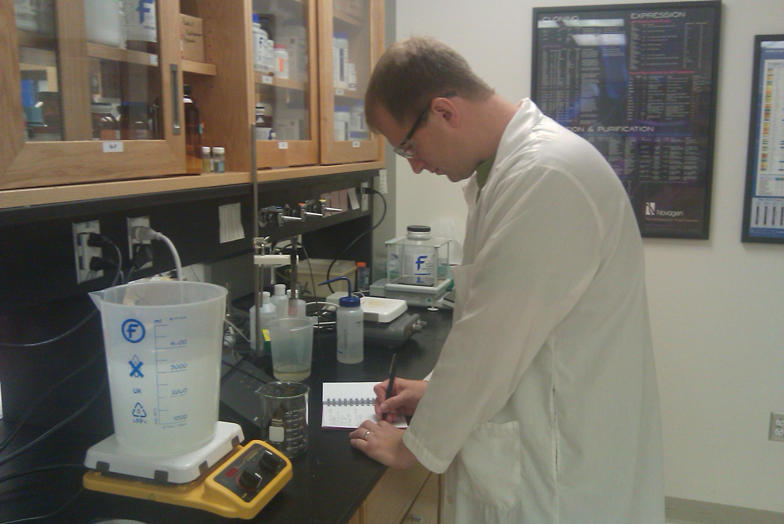Iowa STEM Teacher Extern and Carlisle High School Science teacher Aaron Hahn