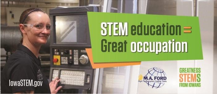 M.A. Ford STEM Career Awareness billboard