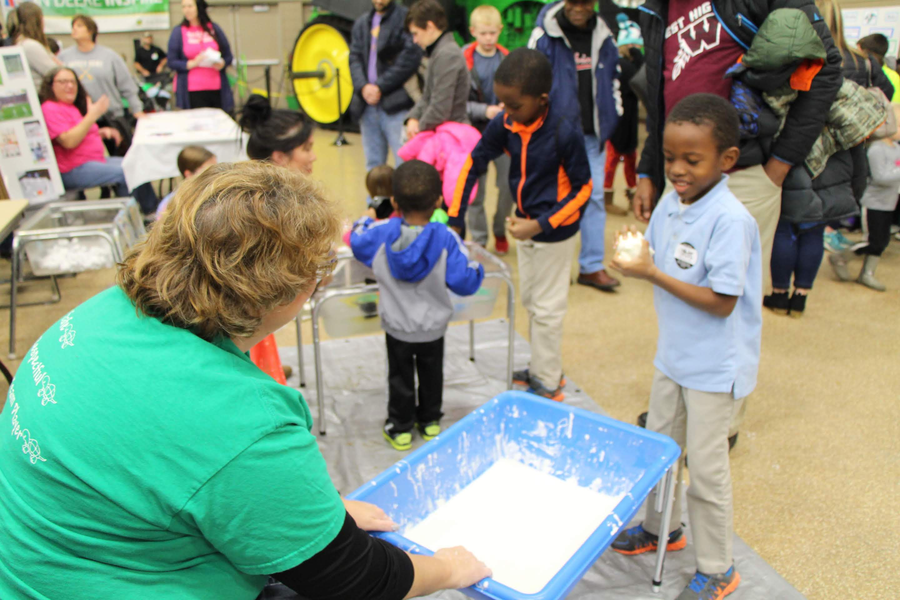 Students enjoy hands-on STEM activities.