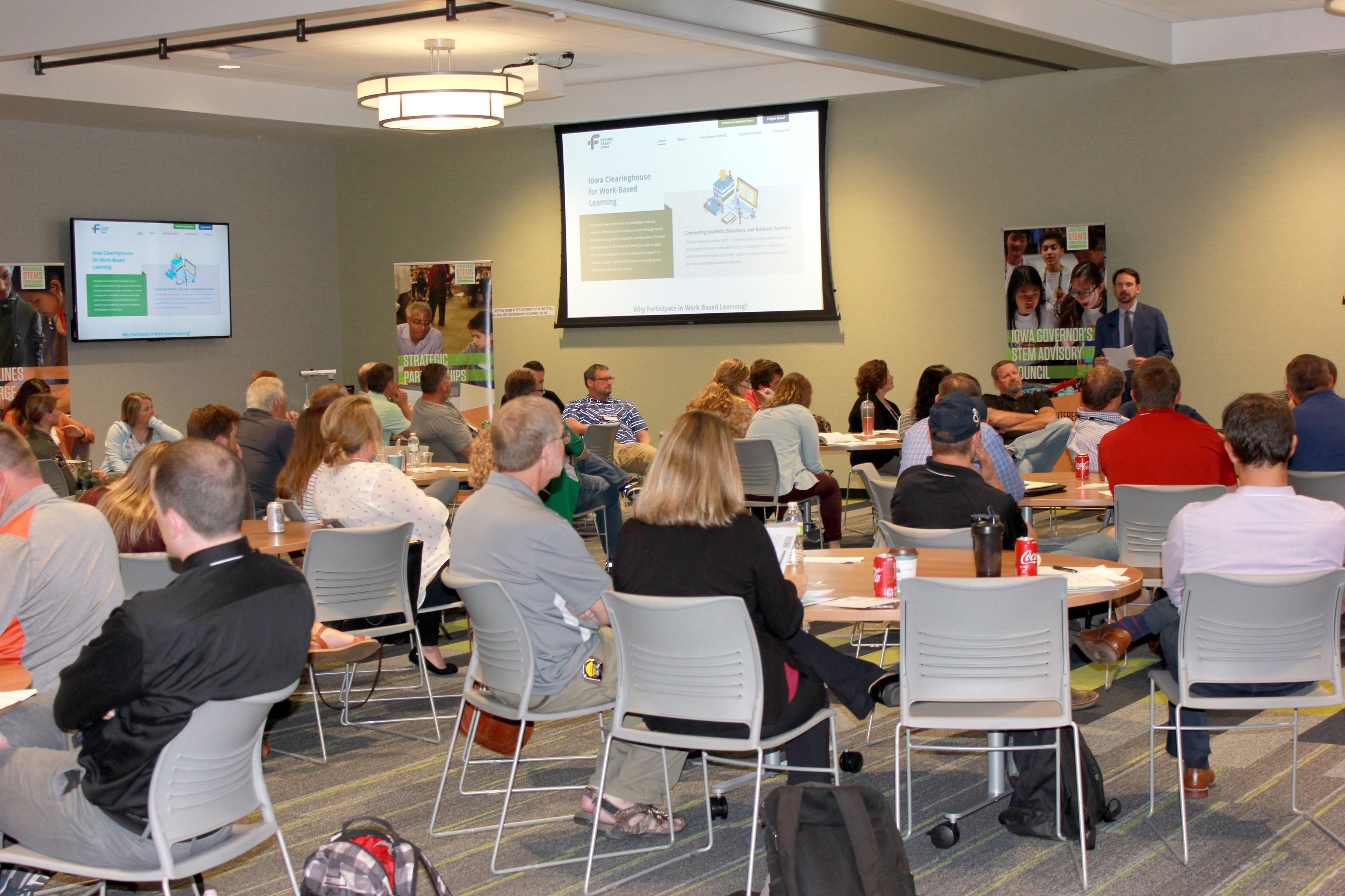 Dr. Ryan Wise, Director of the Iowa Department of Education, was the keynote speaker at the 2019 STEM Teacher Externship Forum.