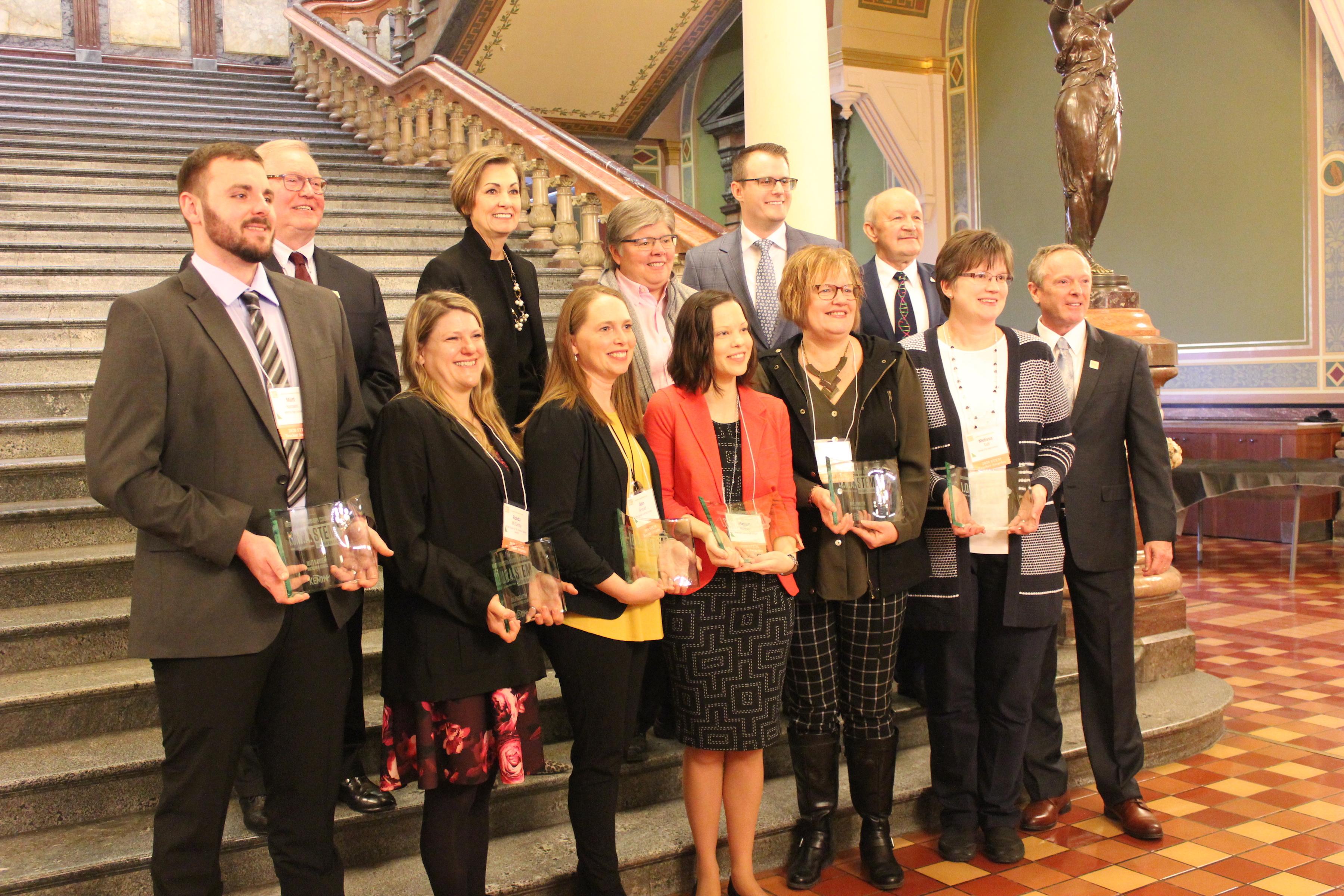 2020 I.O.W.A. STEM Teacher Award recipients were honored at STEM Day at the Capitol.