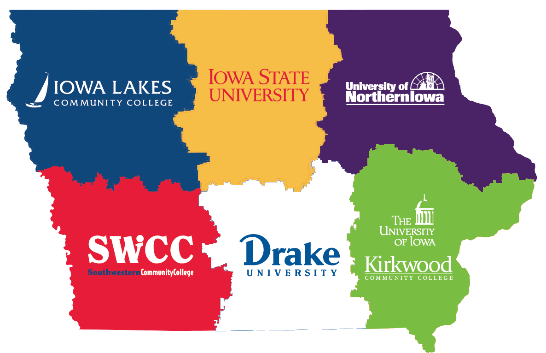 Iowa STEM Hub Institution map