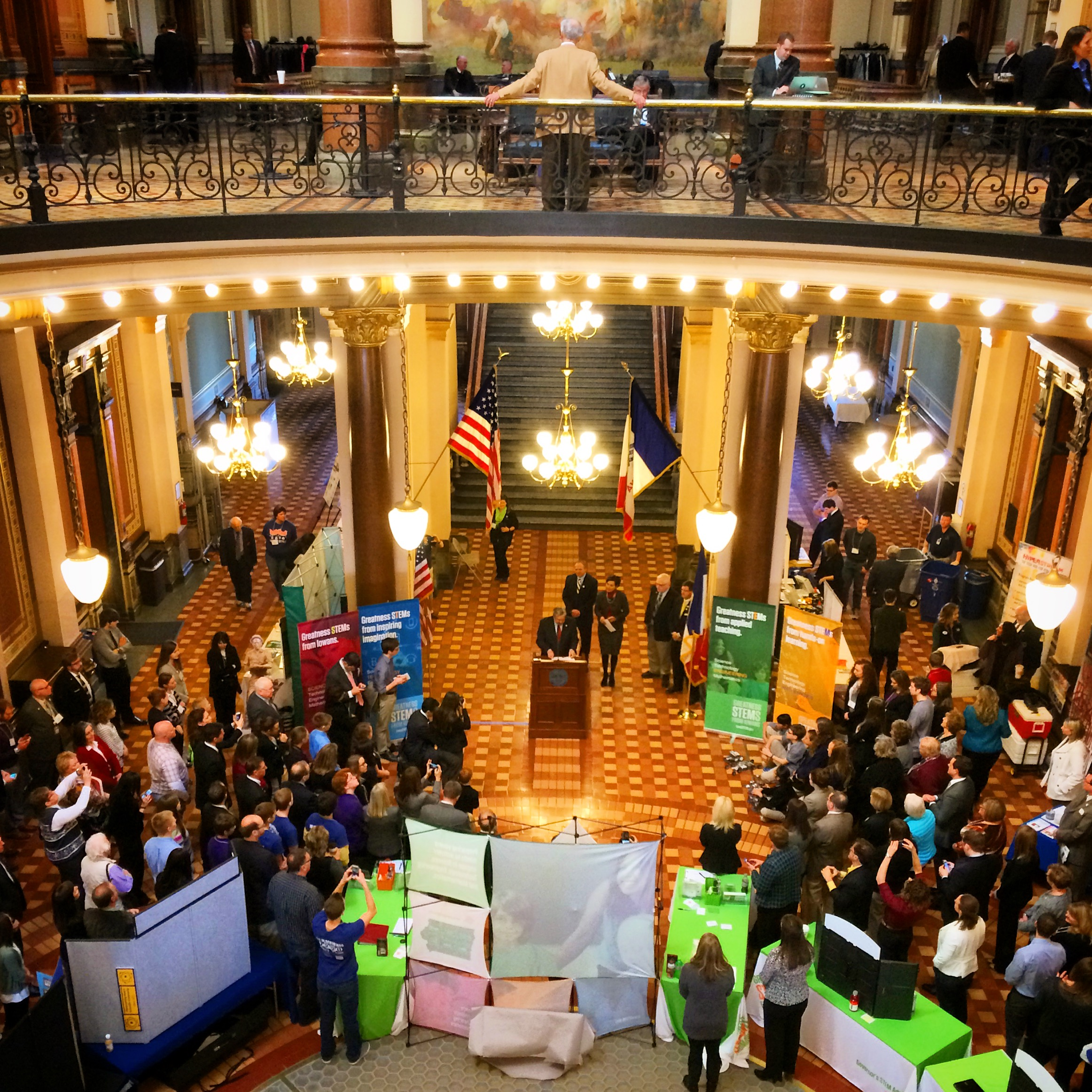 Governor Terry Branstad speaks at the annual STEM Day at the Capitol