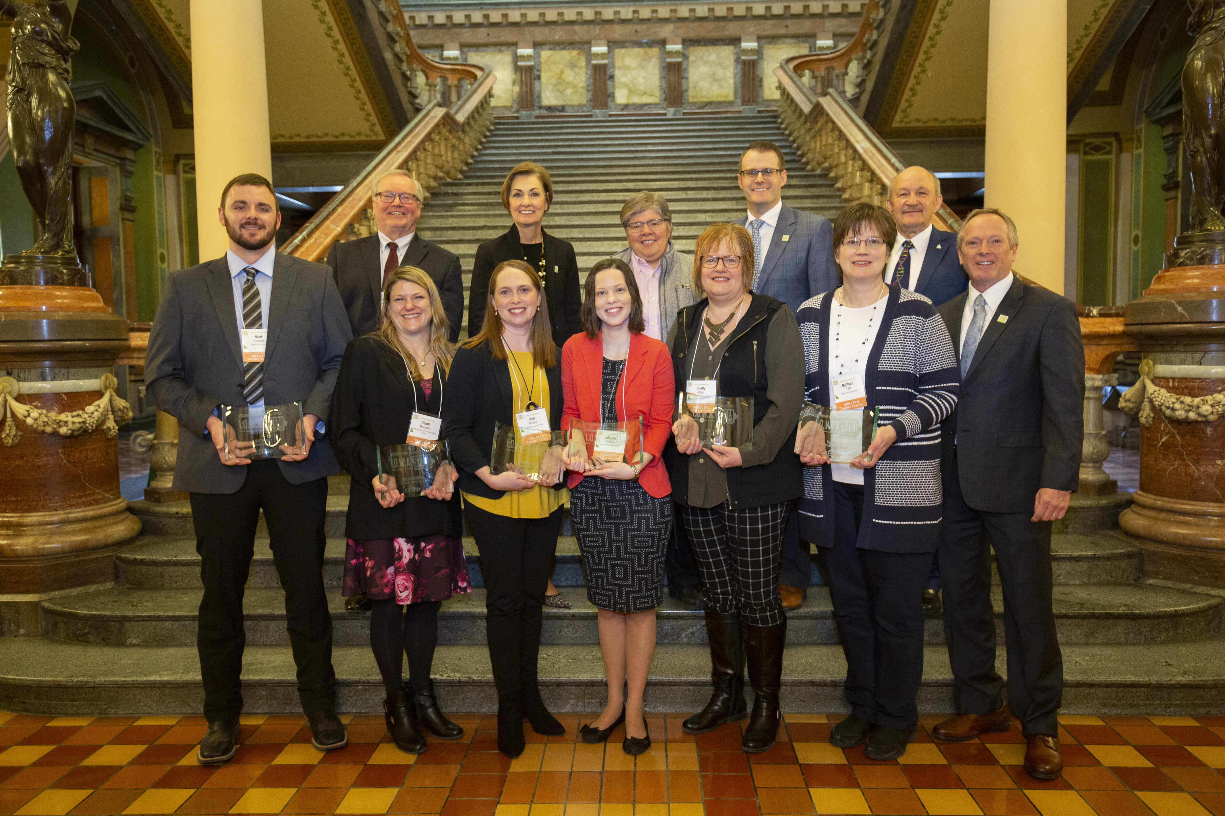The 2019 Iowa STEM Teacher Award recipients were honored at STEM Day at the Capitol last February.