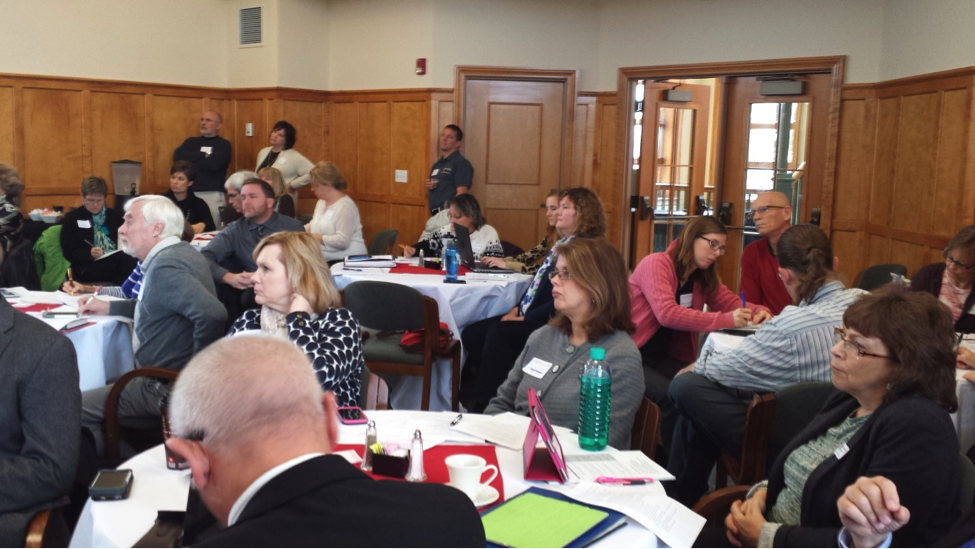 Iowa STEM convened faculty from private colleges, universities and community colleges to envision programs for producing STEM teachers on November 12