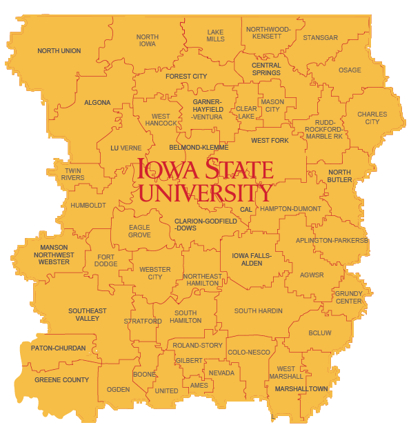 Iowa STEM Map - North Central Iowa STEM Region
