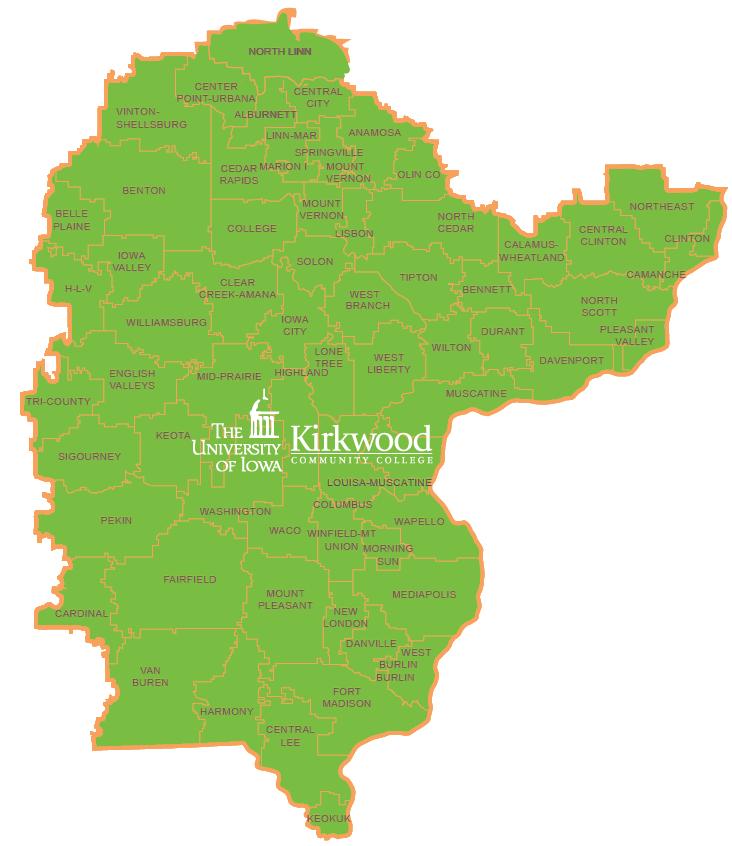Iowa STEM Map - Southeast Iowa STEM Region