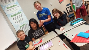 Seventh grade Kinglsey-Pierson Middle School students