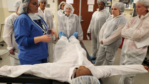STEM BEST Program students explore opportunities available in the local healthcare industry.