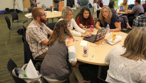 Educators test out resource tools and materials for potential use in the classroom.