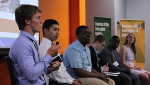 Student panelists discuss STEM effort at the 12th STEM Council
