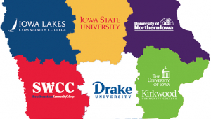 Iowa's statewide STEM program is supported by seven higher education institutions operating as regional hubs.