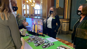 STEM Council team members were in the Capitol Rotunda sharing STEM's return on investment as part of STEM Day at the Capitol.
