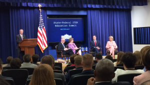 Jeff Weld moderates panel at State-Federal STEM Education Summit