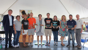 Group picture of 2021 Teacher Awardees at STEM Day at the Fair.