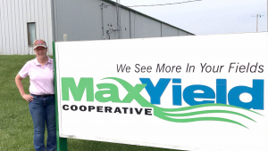 Tricia Reichert, science teacher at Emmetsburg High School, is a STEM Teacher Extern at MaxYield Cooperative
