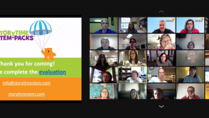 2,000 educators participating in Storytime STEM-Packs training via Zoom.