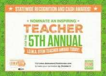 I.O.W.A. STEM Teacher Award Program Nominations Open