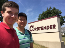 STEM BEST Students at CurbTender