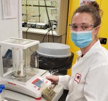 Sam Edster-Mitchell, a biology teacher at Norwalk High School, was a 2020 teacher extern at Kemin Industries.