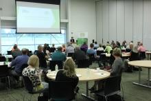 Governor Kim Reynolds speaks to Teacher Externs