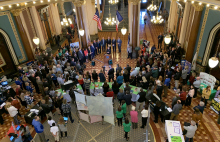 Educators, employers, students, parents, legislators and guests assembled at the State Capitol for STEM Day at the Capitol 2020.