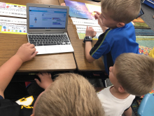 Students at Kingsley-Pierson Elementary take part in the Computer Science is Elementary project