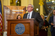 Roger Hargens' passion for STEM helped solidify bipartisan legislative support at STEM Day at the Capitol.