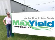 Tricia Reichert, science teacher at Emmetsburg High School, is a STEM Teacher Extern at MaxYield Cooperative